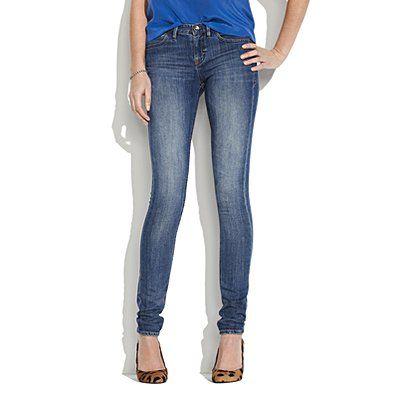 skinny skinny jeans in eastern wash  Madewell $98.00