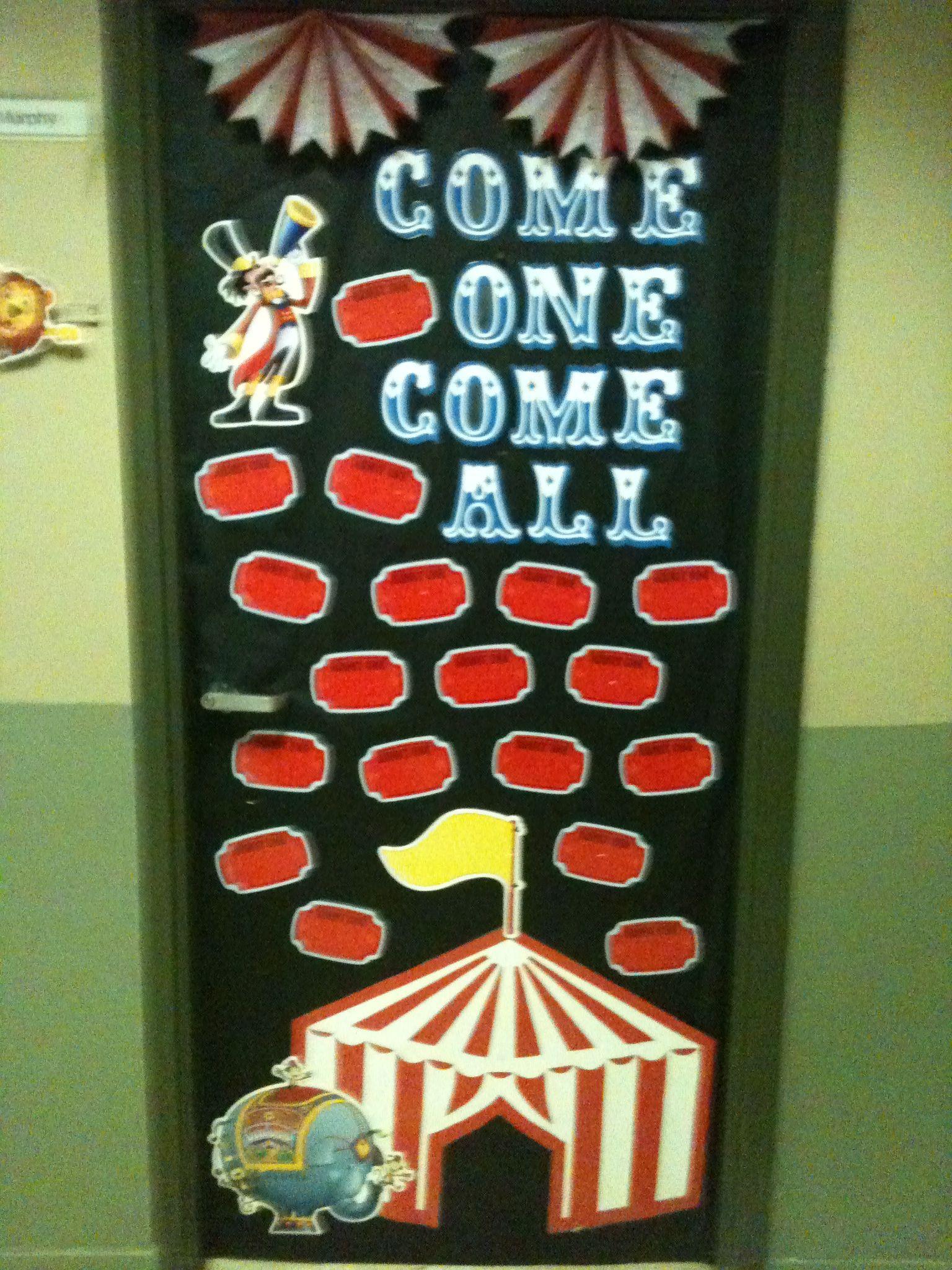 Preschool Circus Theme Bulletin Boards