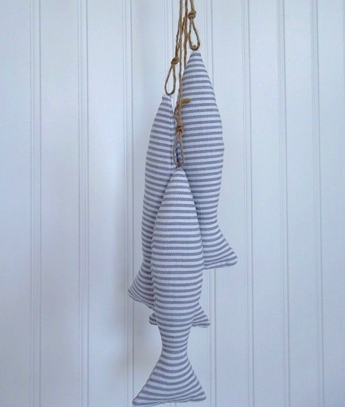 Blue And White Fish Tassels