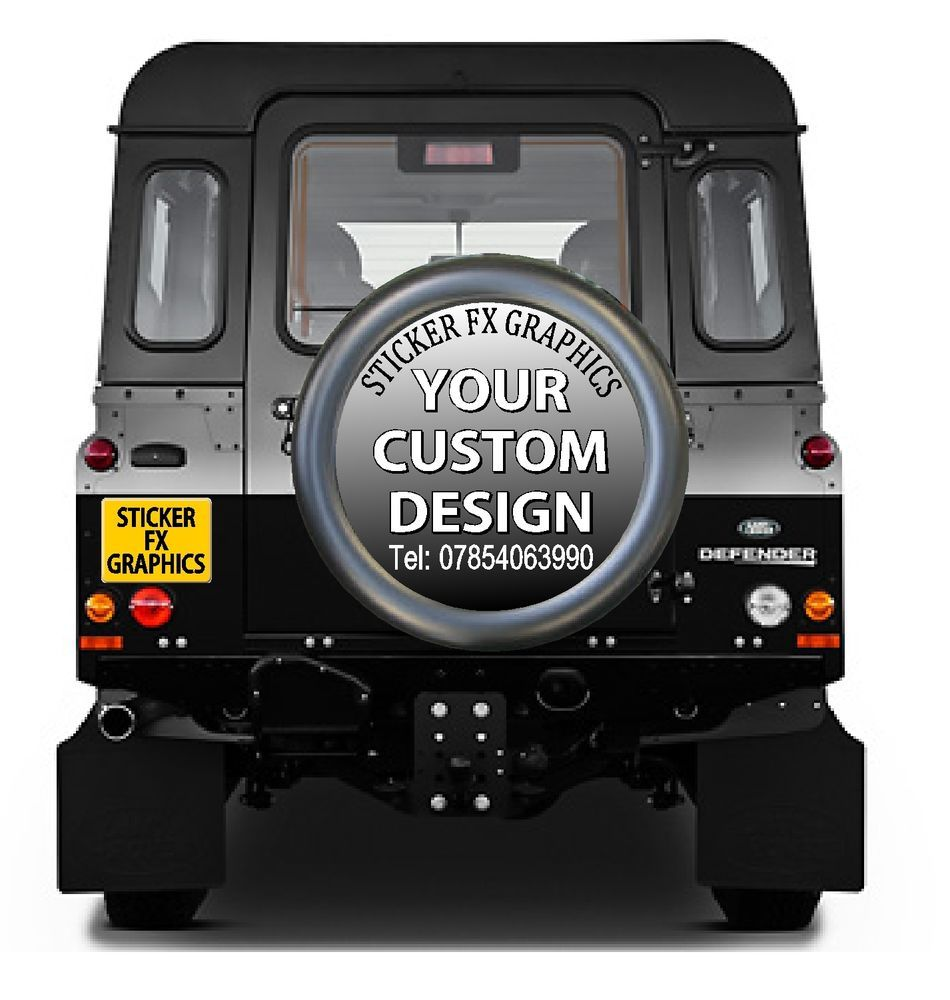 X Spare Wheel Cover STICKER DECAL Any Vehicle Off Rd Advertising - Custom car decal advertising