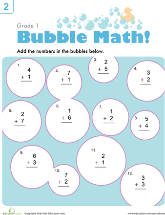 Bubble Math | Worksheets, Math and School