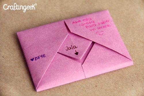 Letter Origami Diy Crafts Hacks Diy Notebook Boyfriend Gifts