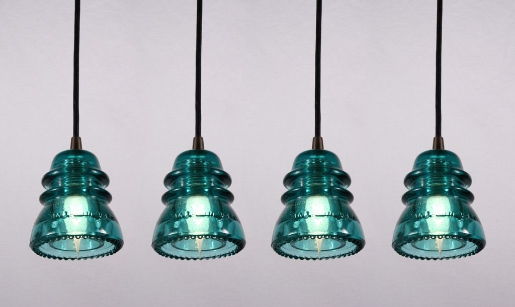 Farmhouse light fixtures from old glass insulators for Telephone insulator light fixture