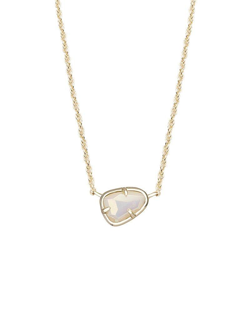 Hayden pendant necklace in white iridescent kendra scott jewelry hayden pendant necklace in white iridescent kendra scott jewelry aloadofball Gallery