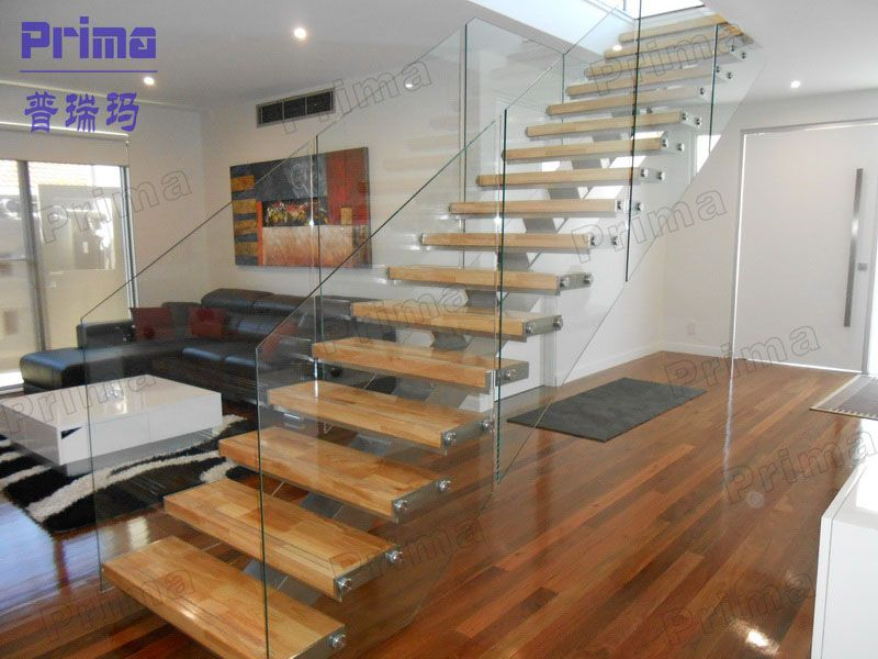 Attractive Elegant Indoor Staircase Steel Stringer Timber Stairs   Buy Timber .