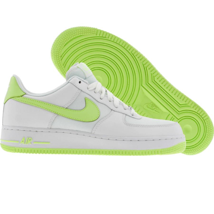 half off b05a9 824e3 Nike Womens Air Force 1 Low (white liquid lime) 315115-106 ...