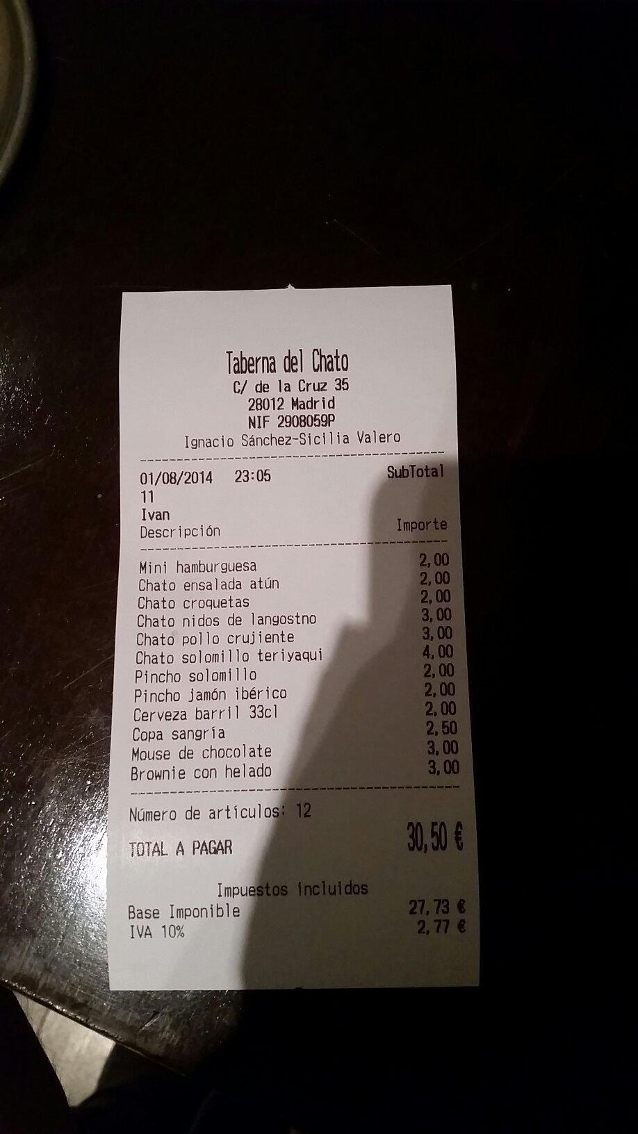 Taberna del Chato, Madrid -