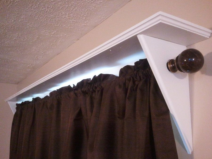 Wall Shelf With Curtain Rod