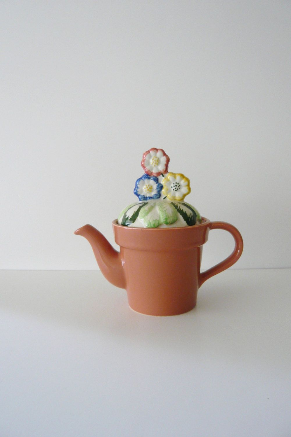 Teapot Price Kensington Made In England Pink Flower Pot Shape With