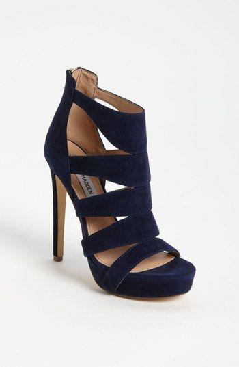 4e83f5843b0 steve madden navy blue heels