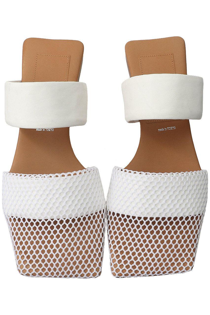 Elli メッシュスクエアトゥサンダル In 2020 Slip On Sandal Womens