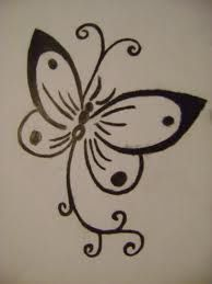 Simple Butterfly For Zippi Start On Hand And Then Trail Down Wrist Arm Henna Butterfly Henna Designs For Kids Butterfly Drawing
