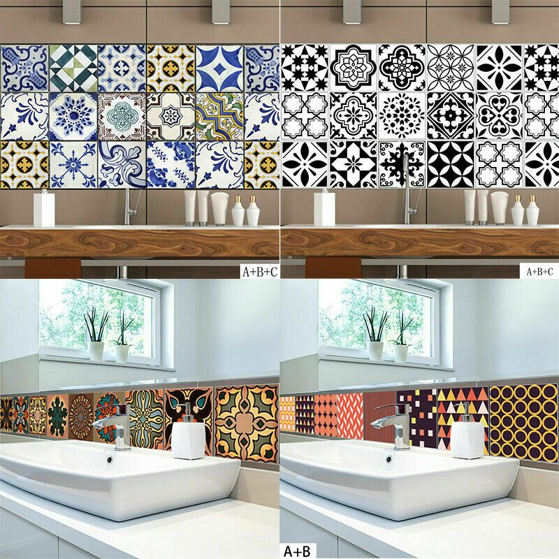 Kitchen Bathroom Tile Mosaic Stickers Self Adhesive Wall Decal Home Floor Decor Bathroom Decor Ideas Of Bathr Floor Decor Living Room Tiles Room Wall Tiles