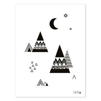 kinderzimmer poster 39 tipis 39 schwarz wei 30x40cm teepees pinterest poster kinderzimmer. Black Bedroom Furniture Sets. Home Design Ideas