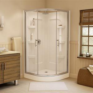 599 Costco Jono Hudson 38 In Neo Round Corner Shower Corner Shower Tub Remodel Tall Cabinet Storage