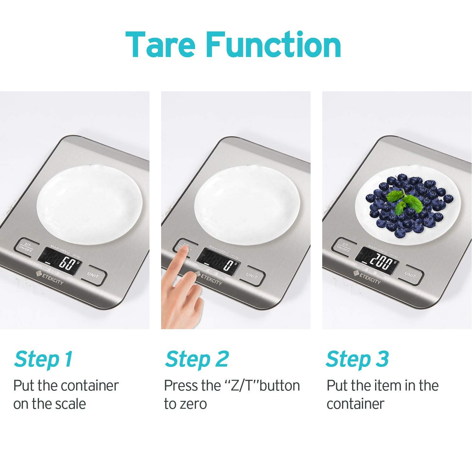 d186c384df6e Etekcity Food Digital Kitchen Weight Scale Grams and Ounces, Small ...