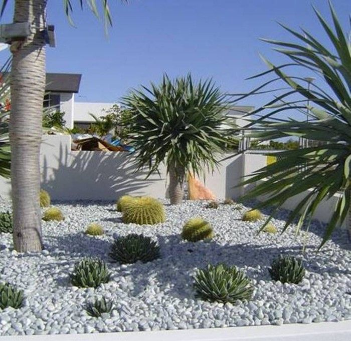 white pebbles garden ideas - Google Search | White pebble ...