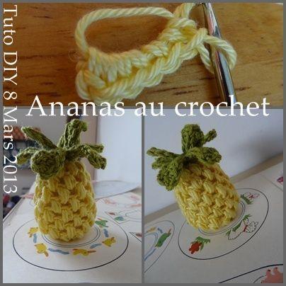 Ananas Au Crochet Pineapple Tuto Diy Dinette Crochet
