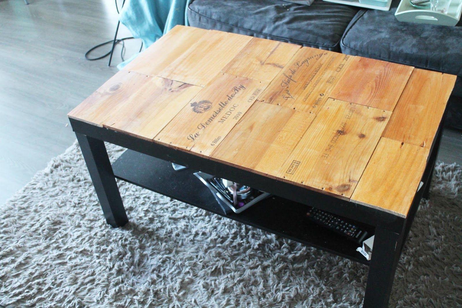 Table Basse Avec Caisse A Vin customise ta table basse avec des caisses de vin
