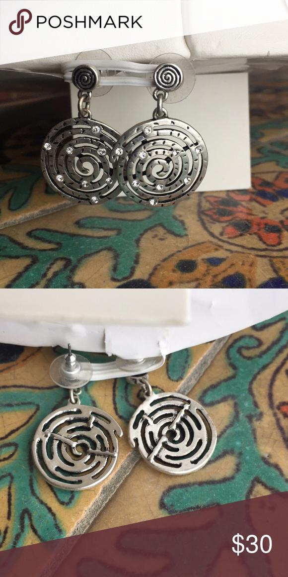 Silver earrings with faux diamonds Silver earrings with faux diamonds Jewelry Earrings