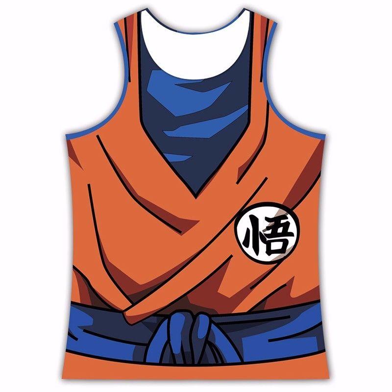 King Kai Training Go Symbol Goku Namek Uniform 3d Tank Top In 2021 Tank Tops Workout Tank Tops Goku