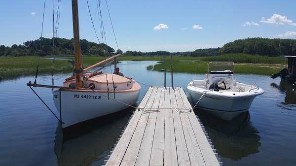 1935 22 Catboat Teaser Antique Classic Wooden Sailboat Wooden Sailboat Sailboat Lobster Boat