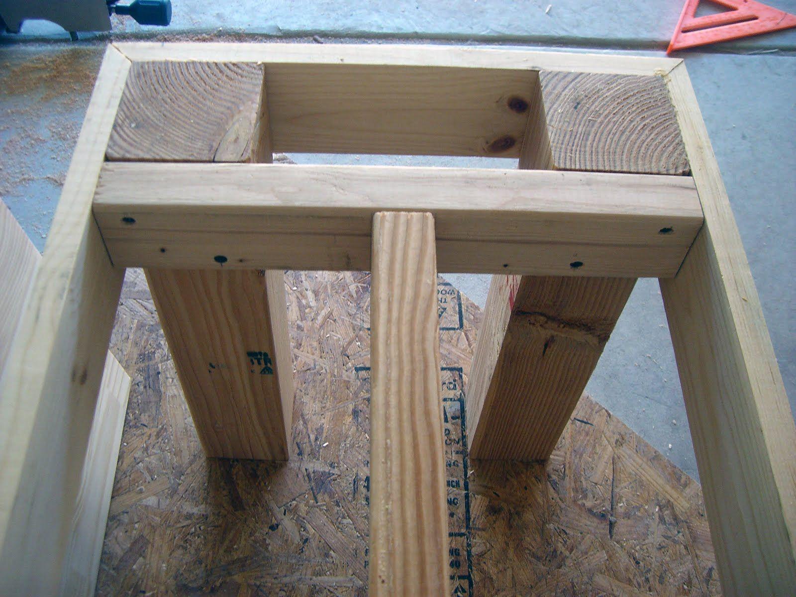 DIY...benches for seating … Mesas de paletes, Encaixes