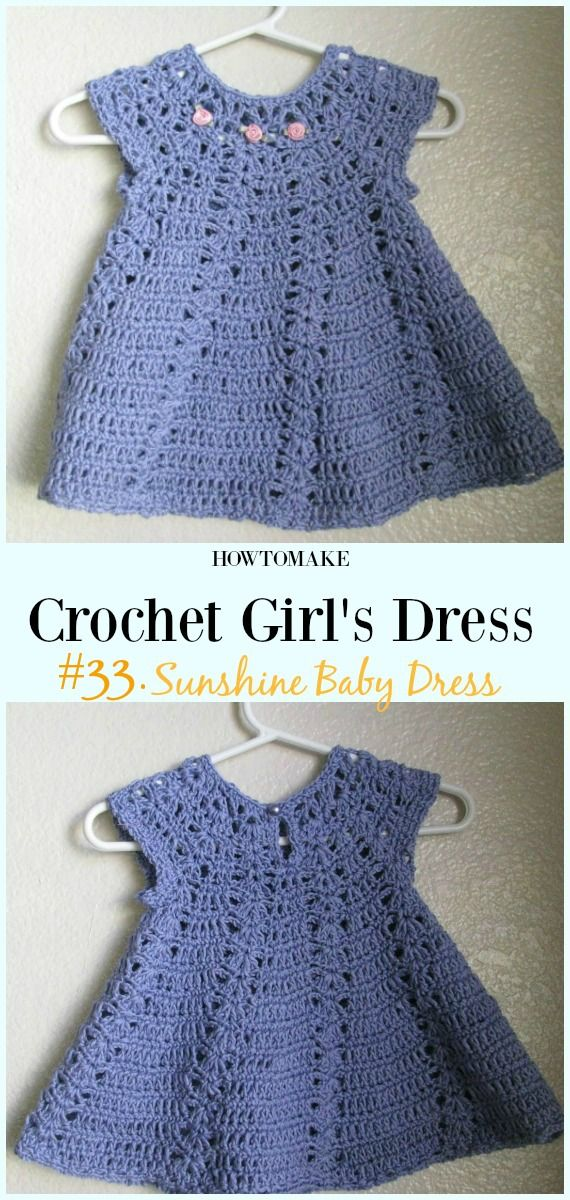 Summer Girl Dress Free Crochet Patterns Doll Clothes Pinterest