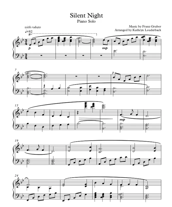 Silent Night Piano Arrangement a pianist's musings in