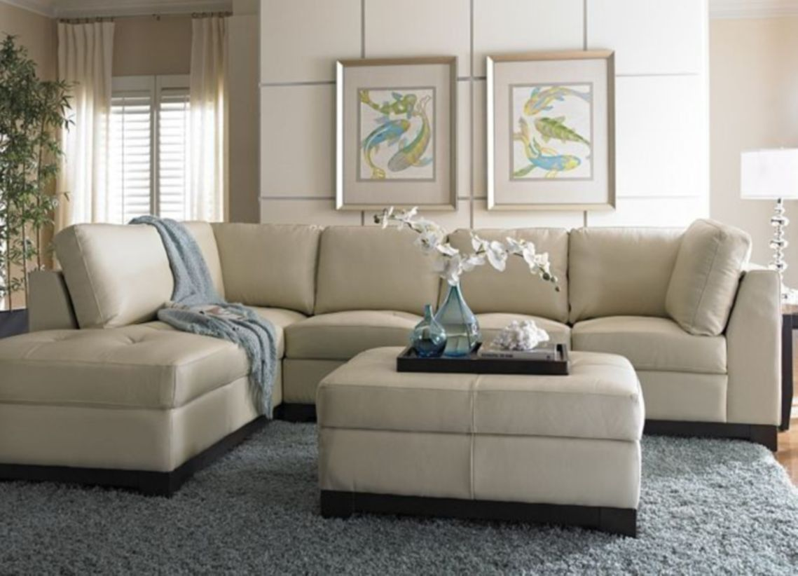 30 Showy Sectional Sofa Decor Ideas Cream Leather Sofa Living