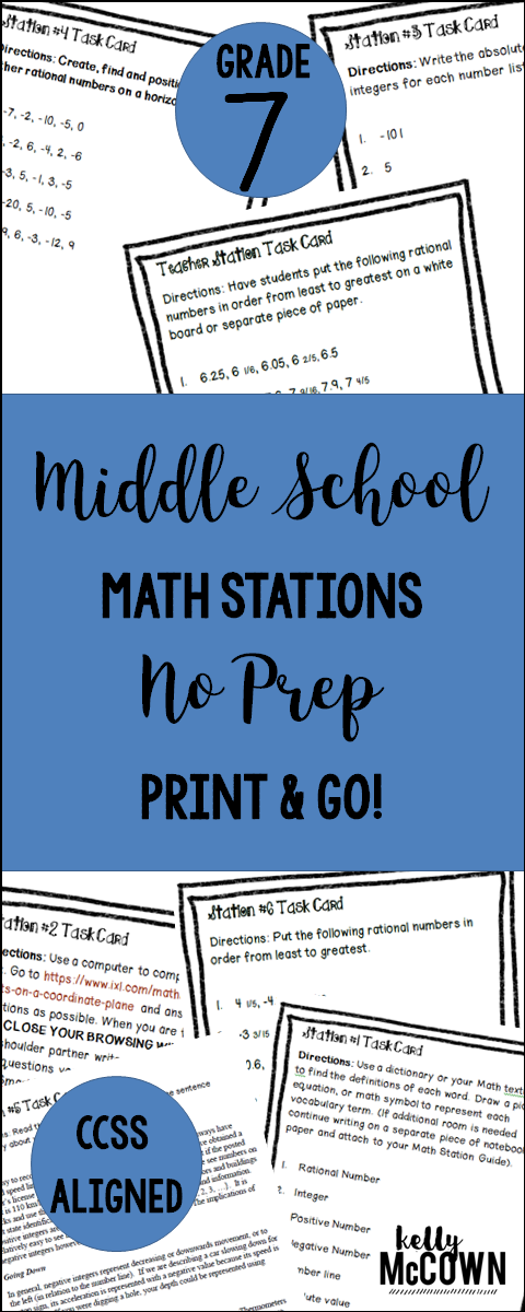 Middle School Math Stations: 7th Grade BUNDLE | Middle