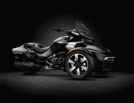 2016 Can-Am Spyder F3 in steel black metallic