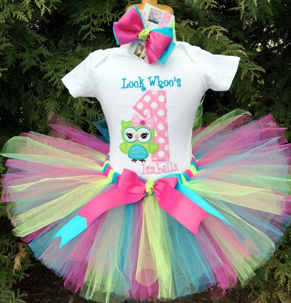 1st Birthday Outfit Girl Owl Birthday Party By