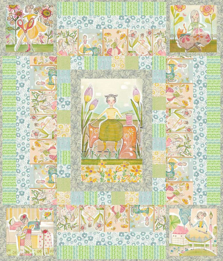 Pin By Storytelling On Happy Fabric: Happy Place Quilt Featuring Cori Dantini's The Makers