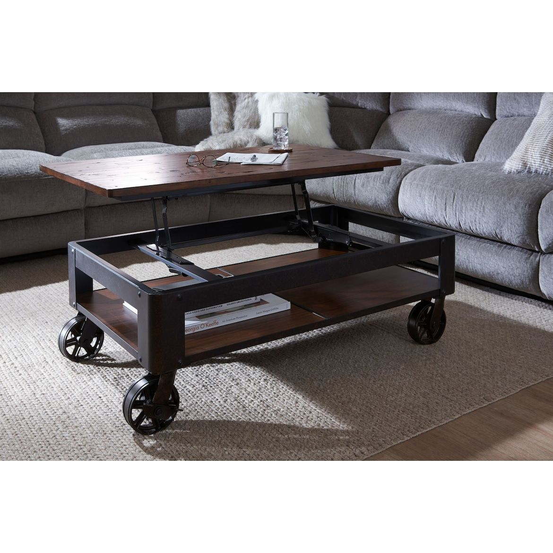 Shortline Lift Top Coffee Table American Signature Furniture Modern Farmhouse Coffee Table Coffee Table Rustic Wooden Coffee Table [ 1170 x 1170 Pixel ]