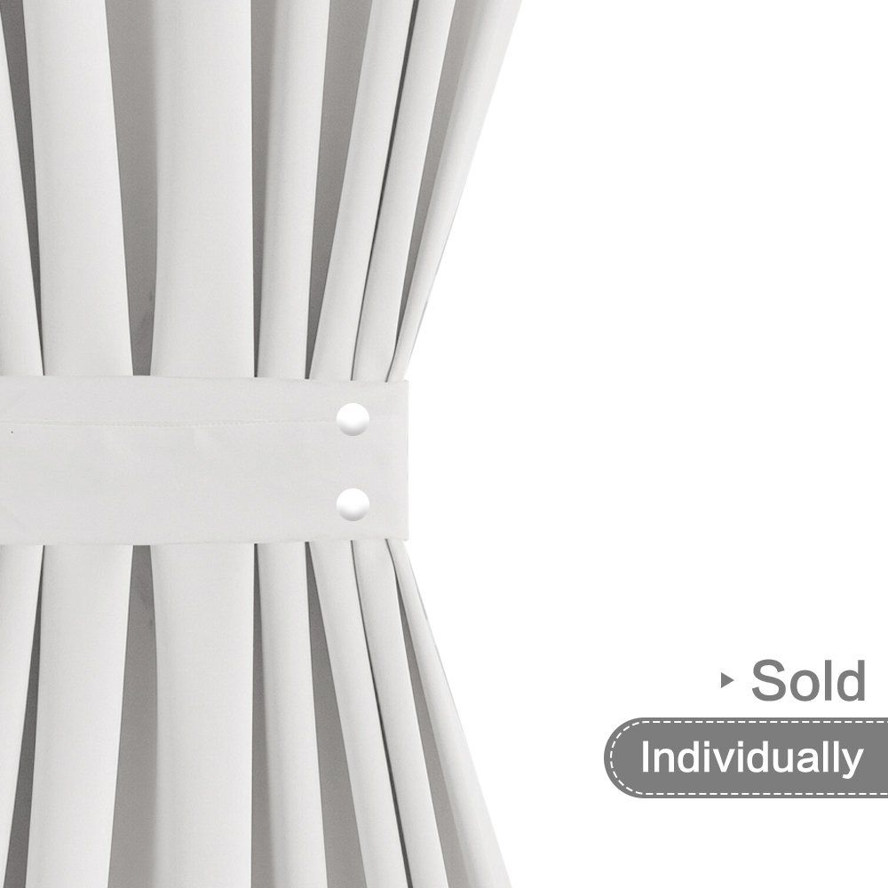 French Door Curtains Blackout White French Door Curtain Panels 40