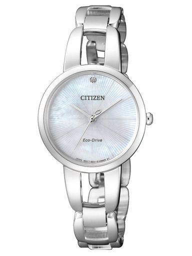 Citizen Eco Drive Elegance Damenuhr Em0430 85n Damenuhr Uhr Silberne Uhr