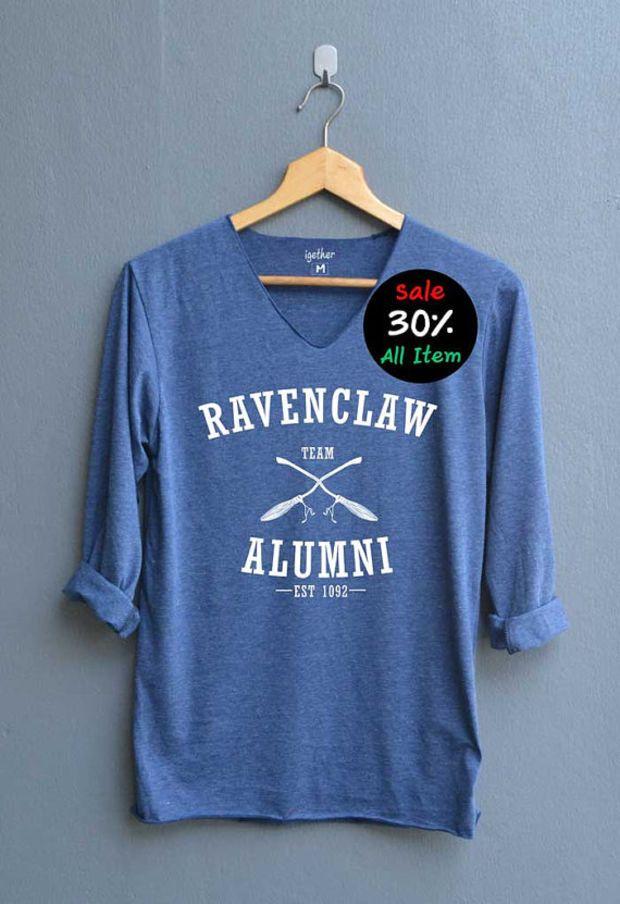 ravenclaw alumni shirt harry potter shirts v neck navy blue unisex