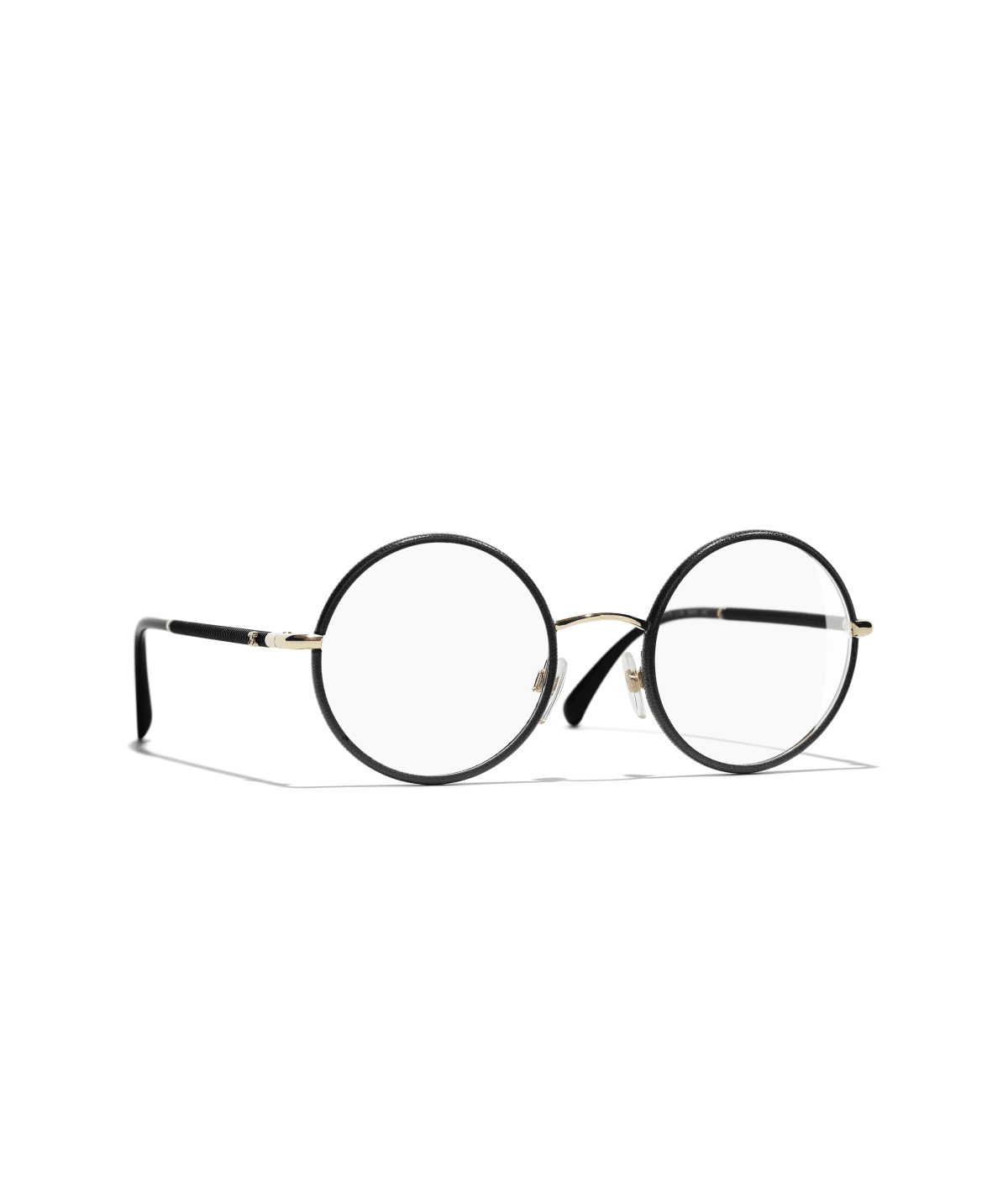 Optical Chanel Round Eyeglasses Metal Black Gold On The Chanel Official Website Round Eyeglasses Gold Chanel Eyeglasses