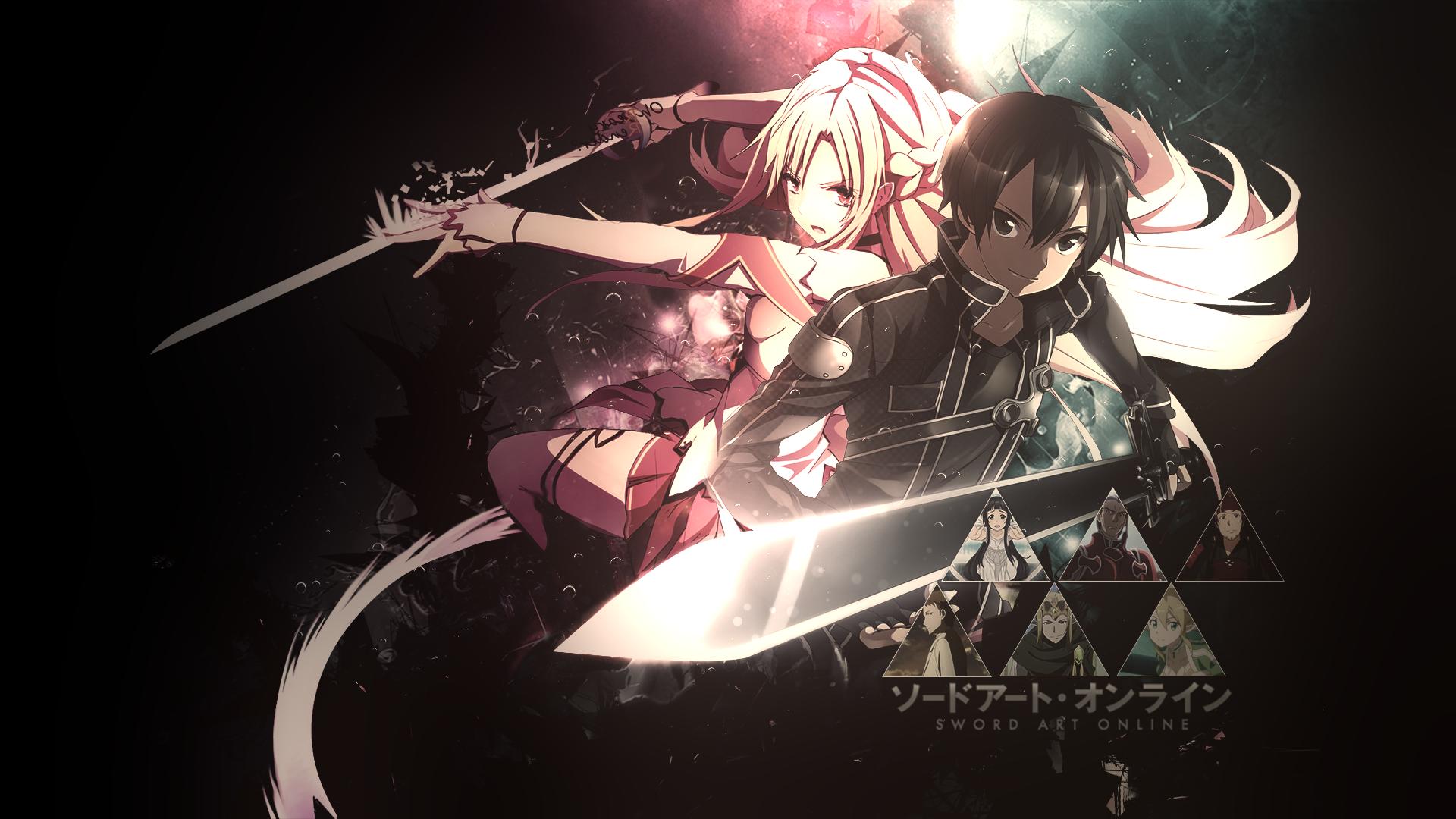 Kirito x Asuna always fight aside eachother Sword Art