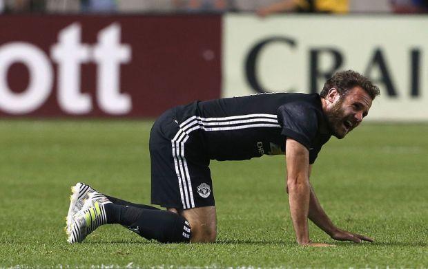 Juan Mata dey injured against the Match vs Real Salt Lake