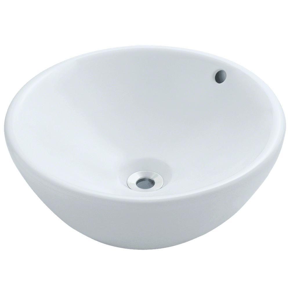 Mr Direct Porcelain Vessel Sink In White V2200 W Vessel Sink