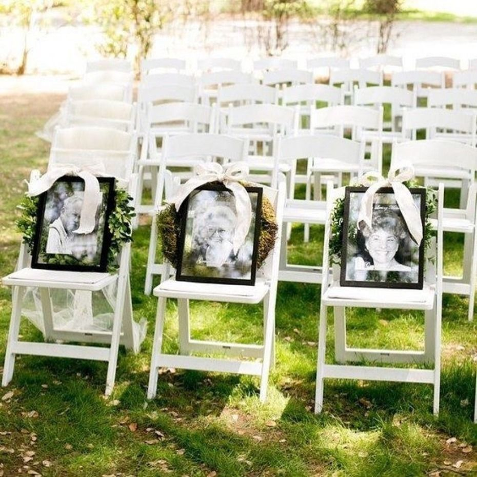 10 Ways to Honor a Lost Loved One at Your Wedding Honoring deceased family members in the front row of your wedding ceremony