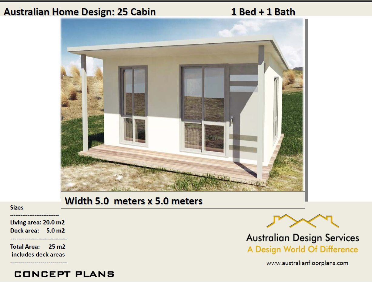 Small Cabin House Plan 25 Cabin 25 M2 269 Sq Foot 1 Etsy Cabin House Plans Small Cabin Plans House Plans