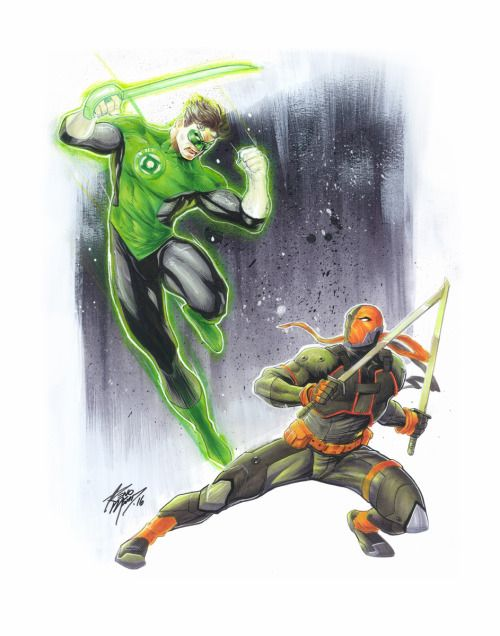 Green Lantern vs Deathstroke - Reno Msad | Green Lantern ... | 500 x 636 jpeg 42kB