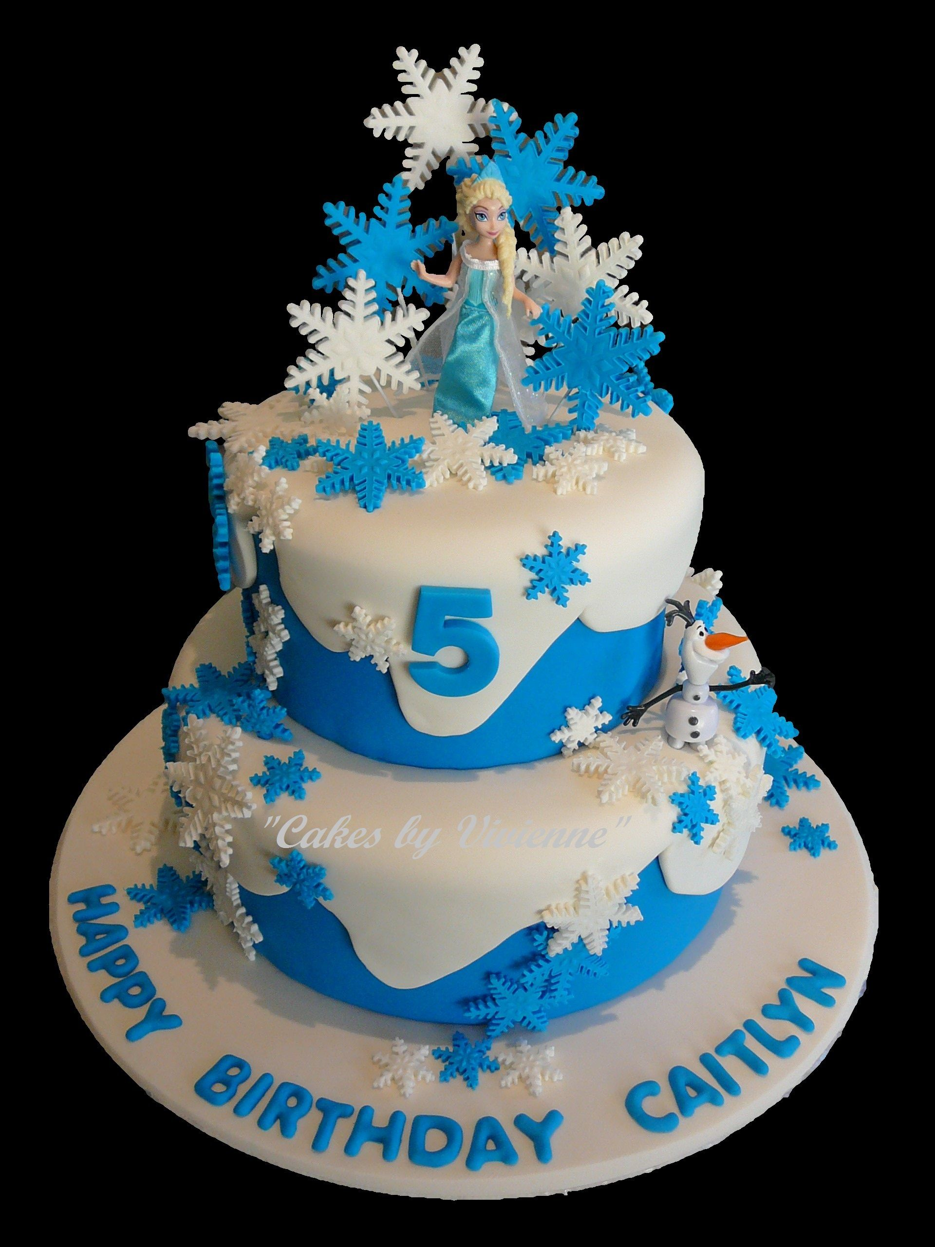 Birthday Cakes For Frozen ~ Frozen themed birthday cake for a year old featuring elsa olaf kenzie s