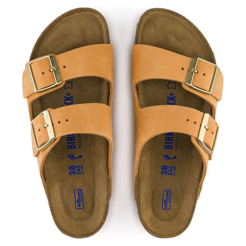 c54770e070d9 Arizona Nubuck Leather Soft Footbed Orange Size 7 (US) or 38 ...