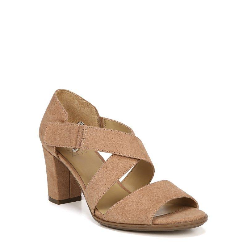 ac7926aa8c8f Naturalizer Women s Lindy Medium Wide Dress Sandals (Cookie Dough Fabric)