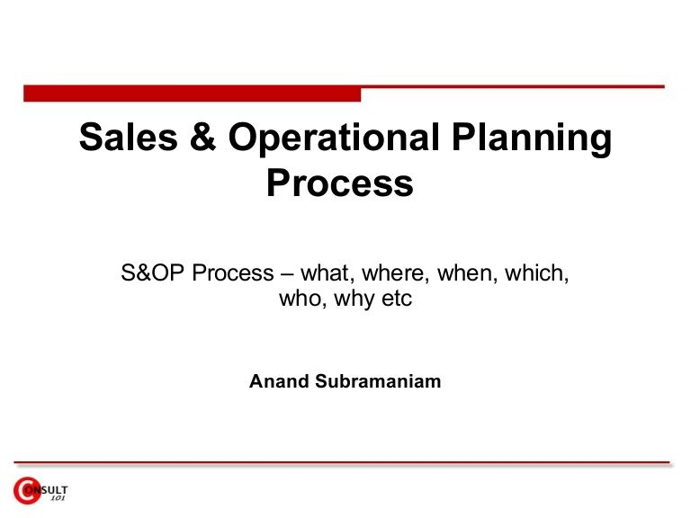 SopProcess By Anand Subramaniam Via Slideshare  Handbook