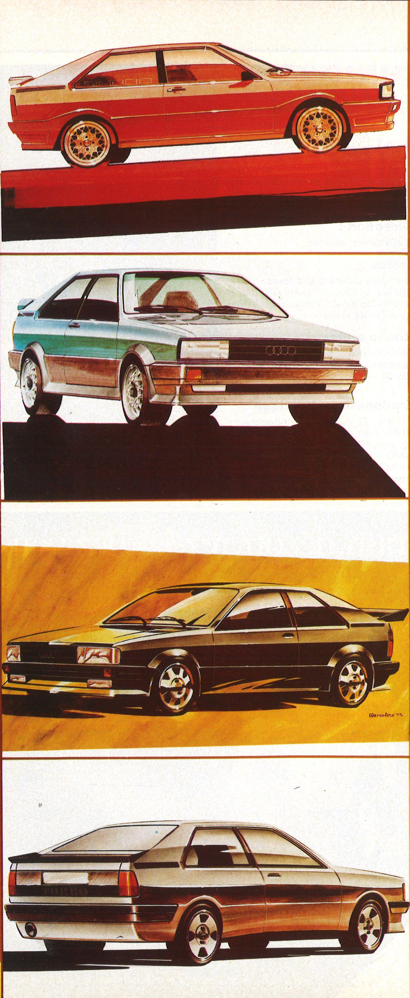 OG |1980 Audi Quattro - EA 262 |Design sketches dated 1977